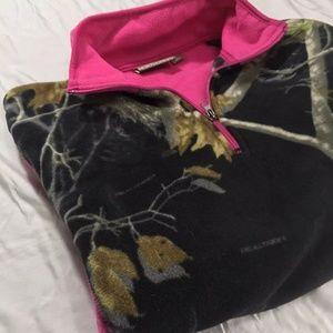 Northcrest Tops - Northcrest 2X Womens Camouflage Fleece Shirt